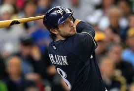 Ryan Braun is now just one of the guys in a strong outfield for the Brewers.
