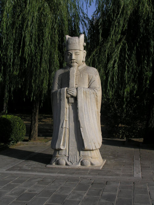 Statue in the Ming Tombs grounds
