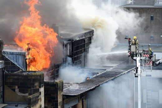 Firefighters worked around the clock to bring the monstrous nightmare of flames under control so as to save one of Scotland's most famous structures.