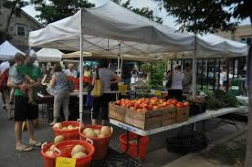 A farmers market gives residents of small towns a chance to buy their products and save money