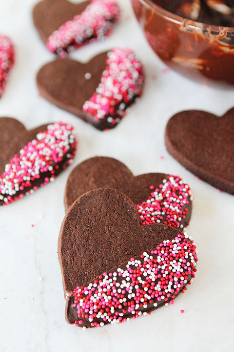 Chocolate and sprinkles cookies