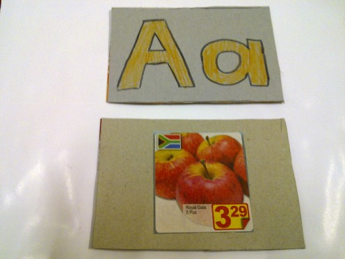 Another flash cards I made with grocery brochures