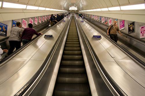 The dizzying heights of Angel's escalator