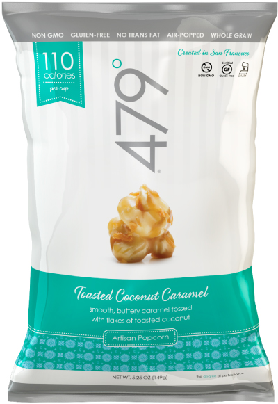 479 degrees toasted coconut caramel popcorn