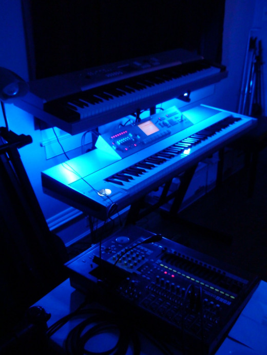 KORG D3200 Digital Recorder and Korg M3 Midi Controller / Keyboard.