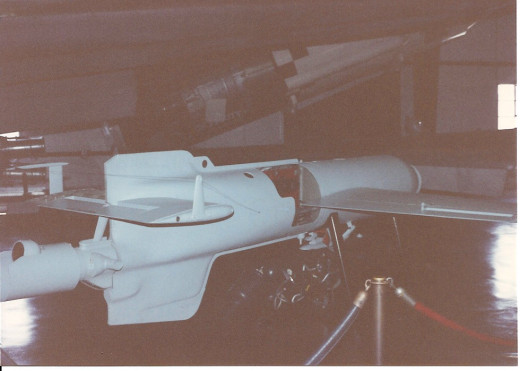 The Air & Space Museum's Hs-293 at the Paul E. Garber facility in the 1990s.