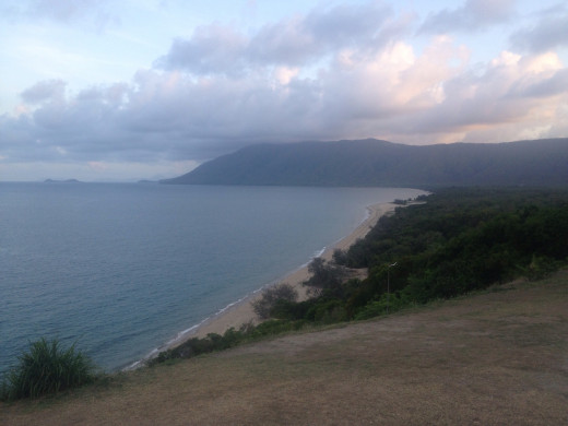 A beautiful dusk vista looking across the coast on Cook's highway