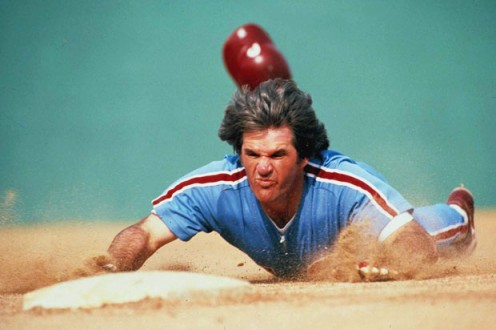 Pete Rose with the Phillies, 1979.