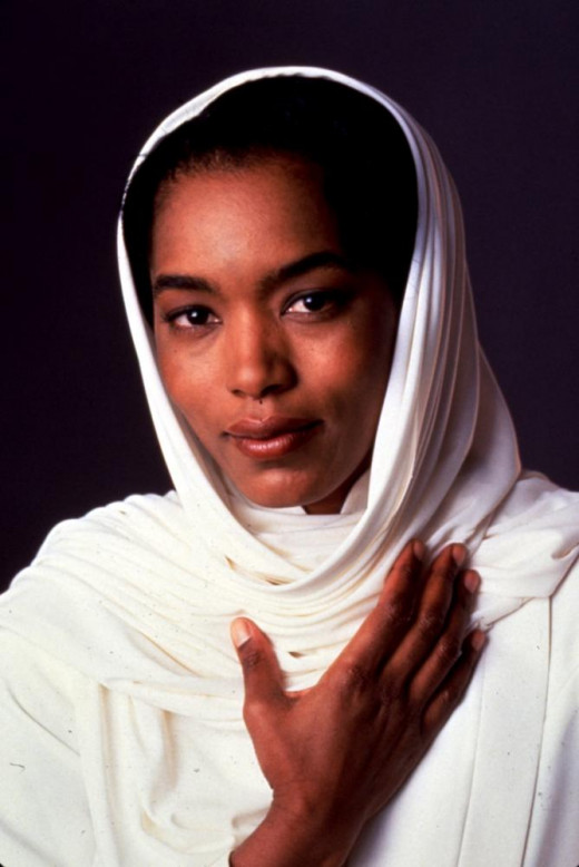 Angela Bassett as Betty Shabazz in Spike Lee's film Malcom X.