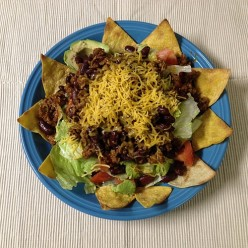 Recipe for Taco Salad with Homemade Chips