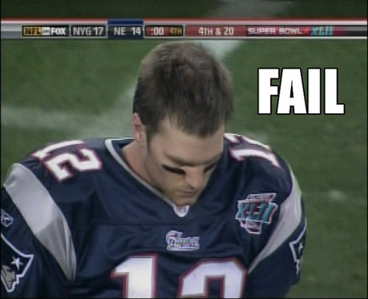 Disappointed New England Patriots quarterback Tom Brady