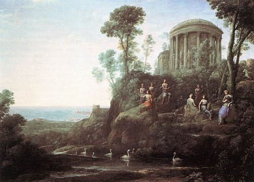Apollo and the Muses on Mount Helicon (Parnassus) (1680) by Claude Lorrain