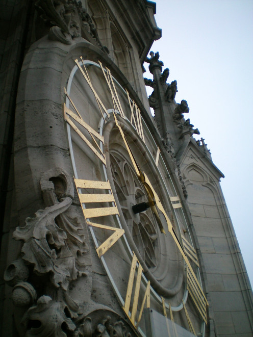 The clock face in the main square, Arras (c) A. Harrison