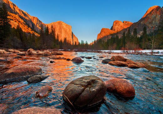 Yosemite National Park, Valley View at sunset