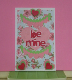 How to make a Homemade Valentine's Day Card- Hearts Galore Cricut Card