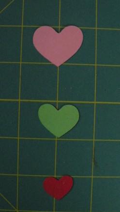 Hearts cut