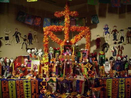Dia de los Muertos altar constructed by the students of St. Ambrose School