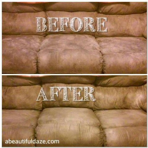 Once again, the photo does this clean couch transformation no justice. But it was incredible!