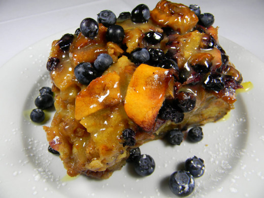 Blueberry Apple Bread Puding