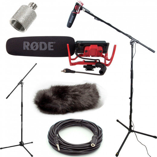 A boom mic is a good start to getting the right  audio.