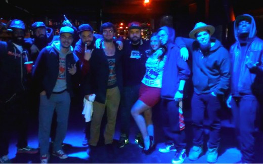My girlfriend and I with Ces Cru, Murs, and !Mayday! at 2014's !Mursday! tour