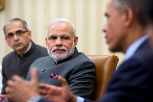 Narendra Modi and Barack Obama, two leaders of largest democracies in the world