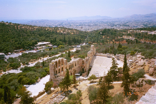 Odeon outside of Athens