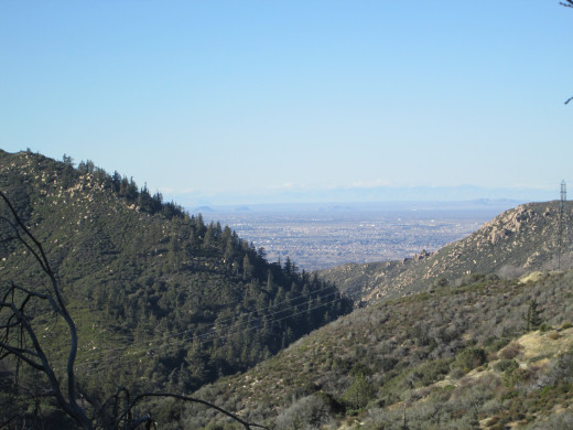 The mountains leading down towards Hesperia.