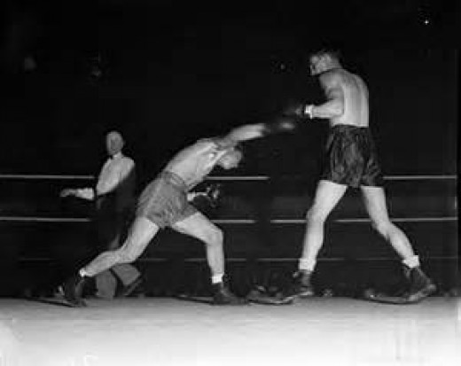 Fred Apostoli gave his all in a losing effort to champion Freddie Steele. In the rematch Aostoli gained revenge with his victory.