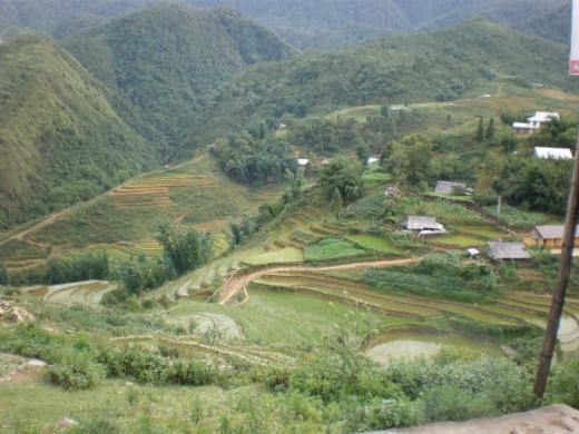 Breathtaking mountainous landscape in Sapa, a city in Northern Vietnam