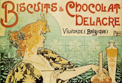 Delacre Cookies and Chocolates, 1896, poster by Henri Privat-Livemont