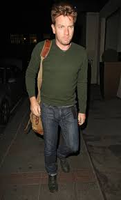 Actor, Ewan McGregor struts his stuff in public while wearing a sweater