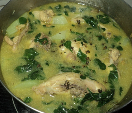 Chicken Tinola With Malunggay