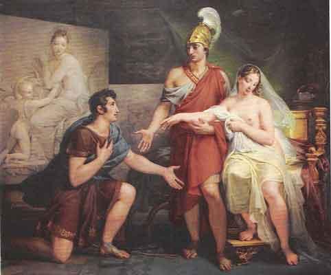 Apelles (L), Alexader and Pancaspe