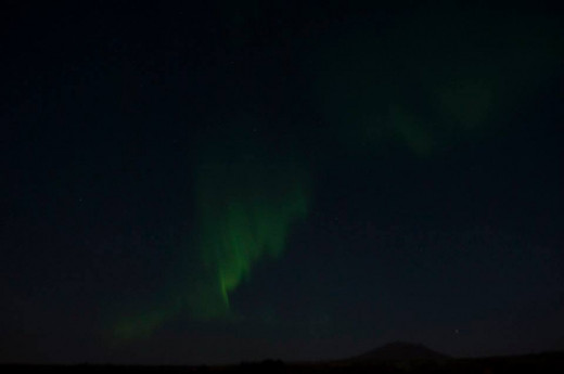 Aurora Borealis, viewed from Thingvellir National Park in October.