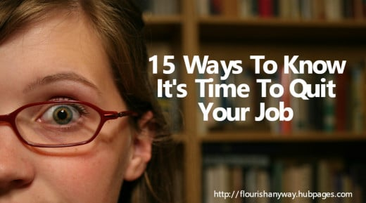 how to know when to quit a job