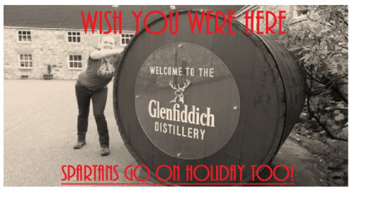 Spartans on tour! A post racing season trip to Glenfiddich Distillery- just imagine what you could do with that barrel in a race
