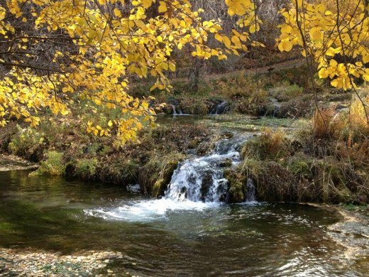 Crystal Springs is a stop alongside the road in American Fork Canyon. It is beautiful any time of year, but especially in the fall.