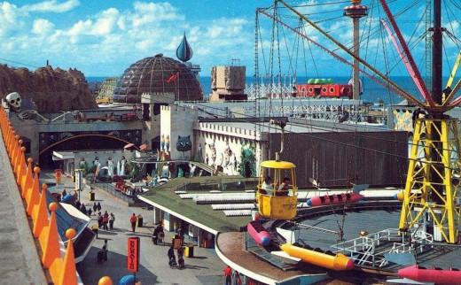 Blackpool Pleasure beach before its modern-day refurbishment.