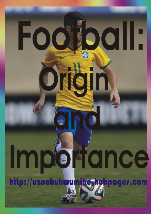 All about football, importance and the history. The background picture used is that of Brazilian striker Oscar who plays for the club side Chelsea as of 2015 when this piece is published.