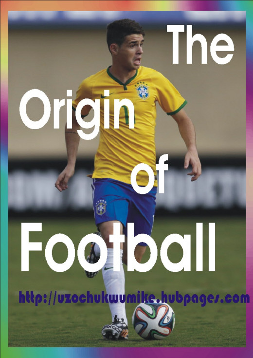 The history or origin of football. The background picture still used is that of Oscar of Brazil.