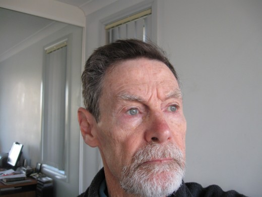 The writer at 75.  Mind you, it's the beard that adds the years...Well, so my wife says.  That's why I shaved it off.