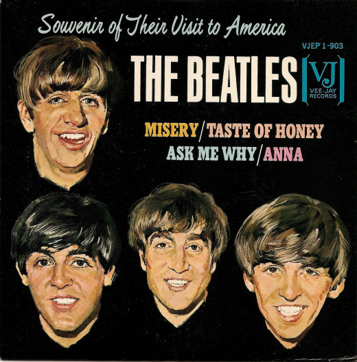 The Beatles EP: Misery, A Taste of Honey, Ask Me Why, and Anna.