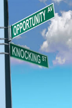 The key is to look for opportunity or create it then, back it up with effort to achieve it.