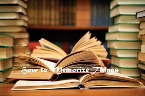 How to Memorize Things?