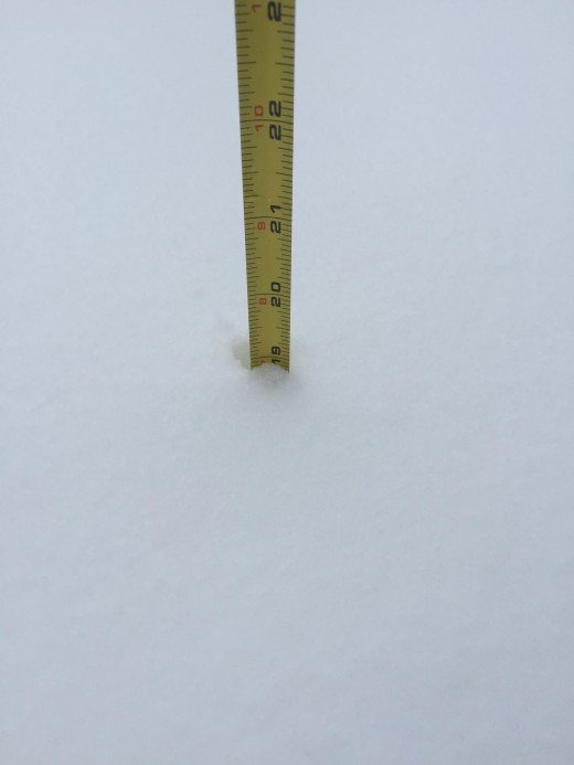 "Check it out. 19"" of Snow in Central CT"