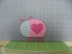 Love Bug heart adhered