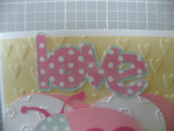 Love phrase adhered