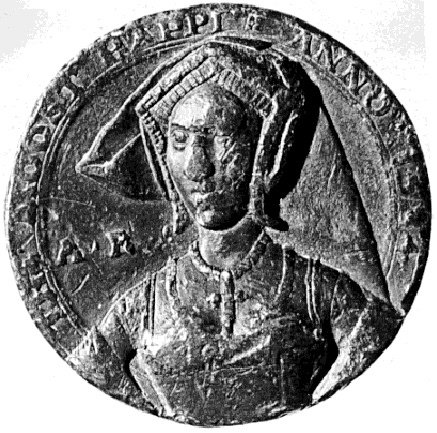 This is the only surviving coin from Anne Boleyn's reign.  Henry VIII had the rest destroyed after her death.  It is also the only known contemporary portrait of her.
