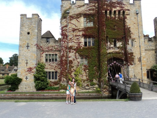 Hever Castle, Anne's childhood home in Kent, England.